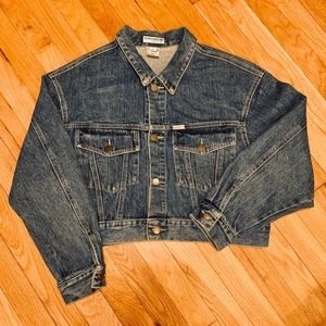 VINTAGE GUESS CROPPED DENIM JACKET!